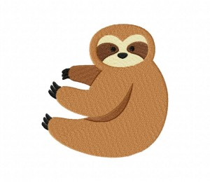 Sloth Stitched 5_5 Inch