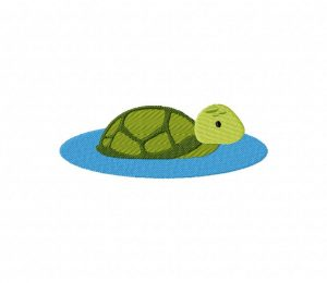 Turtle in the Water 5_5 inch