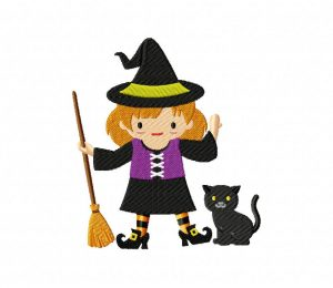 Witch and Cat 5_5 inch