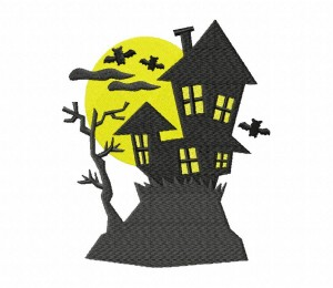 Haunted House Stitched 5_5 Inch