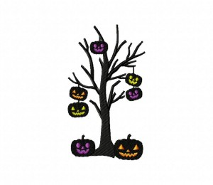 Spooky Pumpkin Tree 5_5 inch