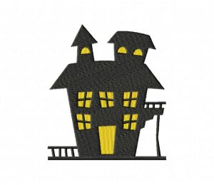 02 Haunted House Stitched 5_5 Inch
