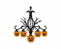 Creepy Pumpkin Chandeliers 5_5 inch