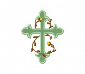 Ornate Cross And Vine 5_5 inch