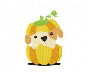 Puppy In Pumpkin 5_5 inch