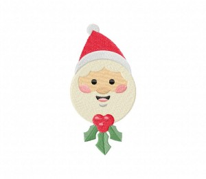 Santa-Claus-Ornament-01-Stitched-5_5-Inch