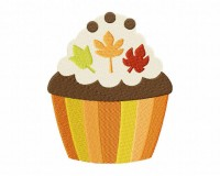 Thanksgiving Cupcake 03 Stitched 5_5 Inch
