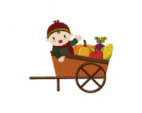 Autumn Baby Harvest Cart 5_5 inch