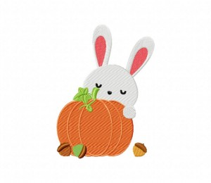 Autumn Bunny Pumpkin 5_5 inch