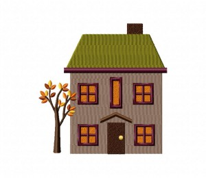 Autumn House One Tree 5_5 inch