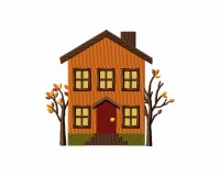 Autumn House Two Trees 5_5 inch