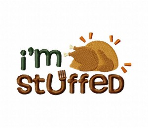I'm Stuffed Stitched 5_5 Inch