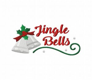 Jingle Bells Stitched 5_5 Inch