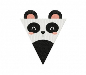 Panda Party Flag 5_5 inch