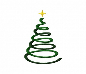 Swirly Abstract Holiday Tree 5_5 inch