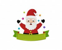 Holiday Santa Ribbon 5_5 inch
