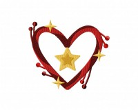 Yuletide Heart Wreath Charm 5_5 inch