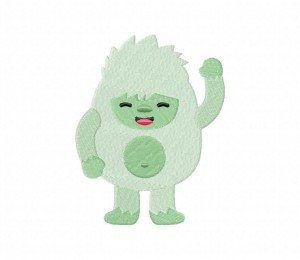 Cute Yeti Boy Stitched 5_5 Inch