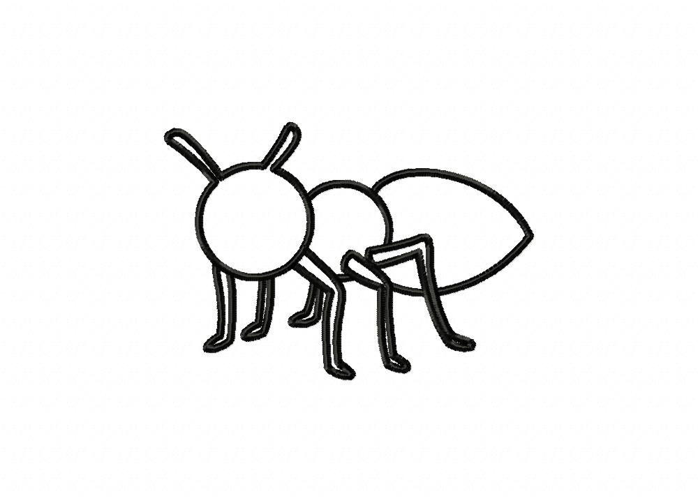 ant insect outline machine embroidery design  u2013 daily
