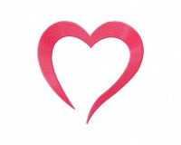 Pink Heart Doodle Shape Stitched 5_5 Inch