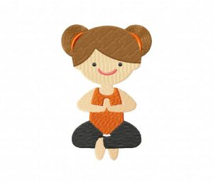 Yoga Stance Orange Girl Stitched 5_5 Inch