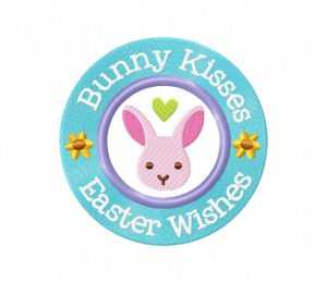 Bunny Kisses, Easter Wishes 5_5 inch