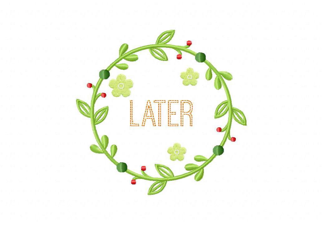 Later Wreath Machine Embroidery Design – Daily Embroidery