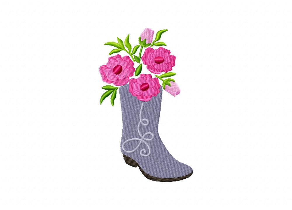 boot bouquet includes both applique and stitched  u2013 daily embroidery