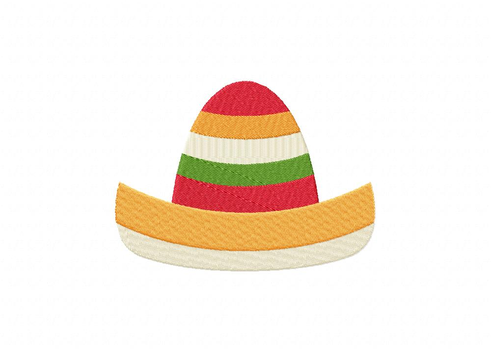 cinco de mayo curves hat machine embroidery design daily embroidery. Black Bedroom Furniture Sets. Home Design Ideas