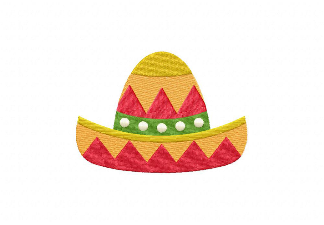 cinco de mayo triangles hat machine embroidery design daily embroidery. Black Bedroom Furniture Sets. Home Design Ideas