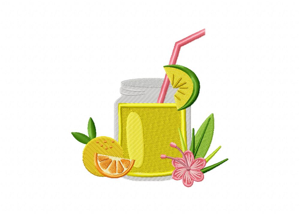 Cold Drinks For Summer Embroidery Design Daily Embroidery