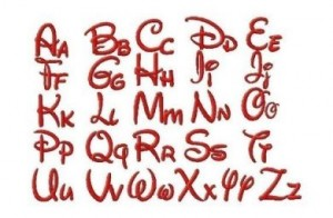 Free Embroidery Designs Disney Font