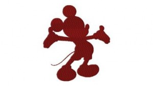 Embroidery Freebies Mickey Silhouette