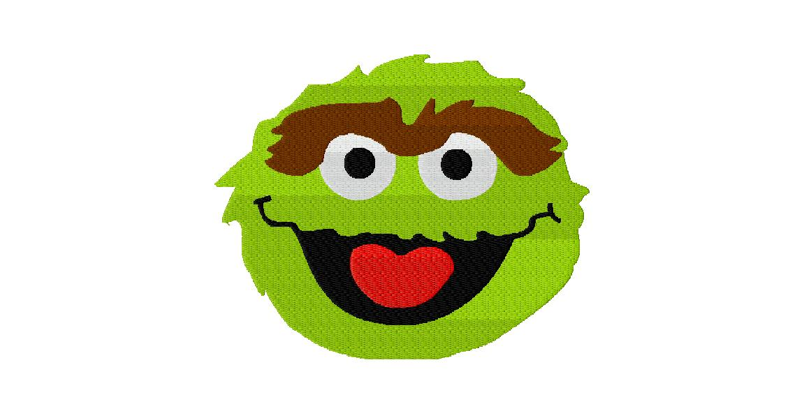 Sesame Street Week Free Oscar The Grouch Embroidery Design