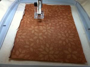 appliqued fabric