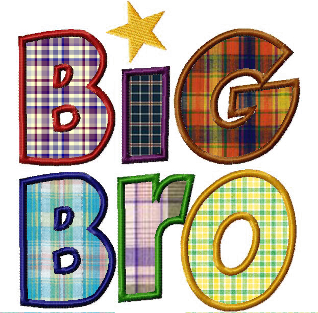 Free Big Bro Machine Applique Design – Daily Embroidery