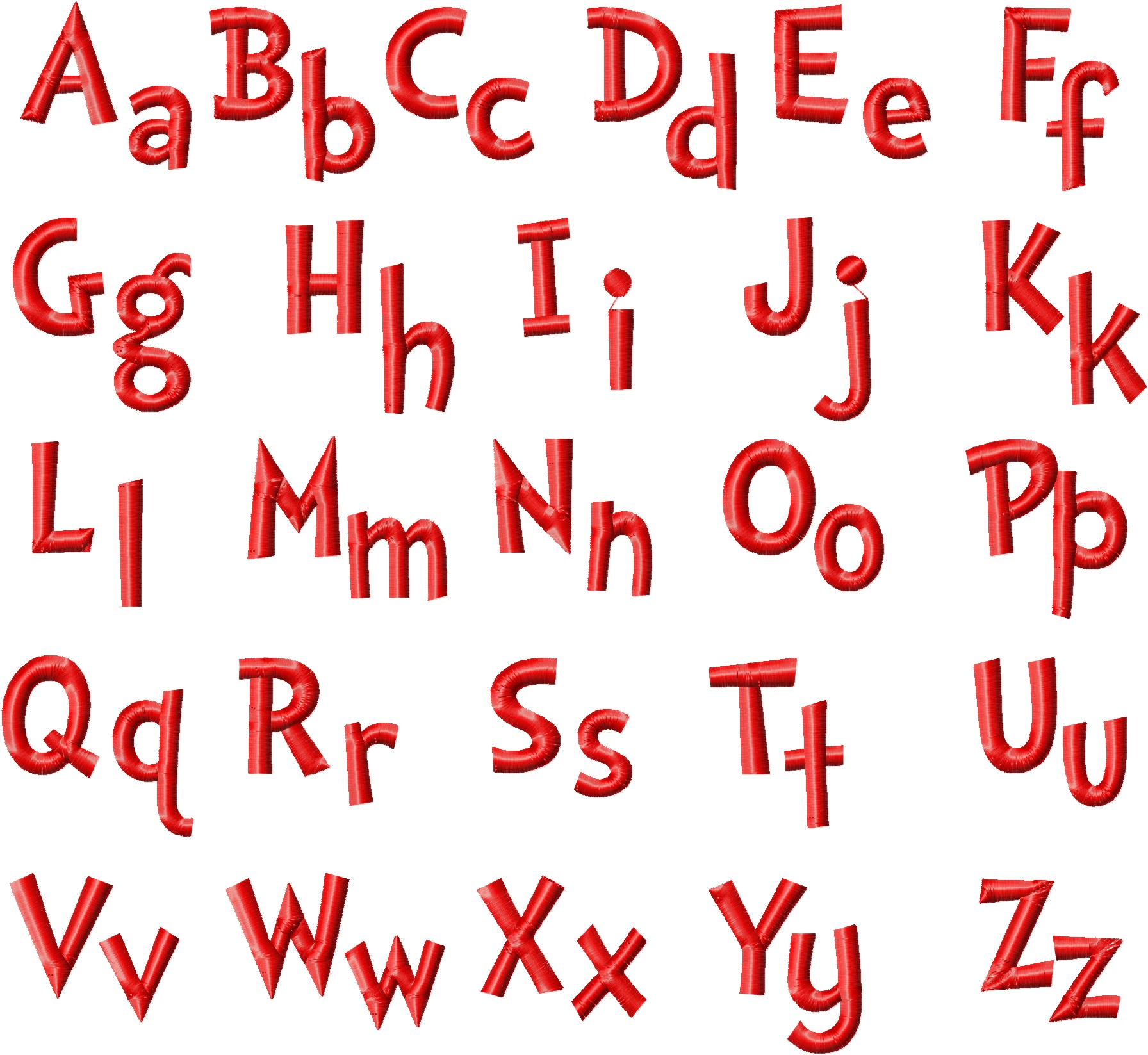 Grinch Machine Embroidery Design Font Set