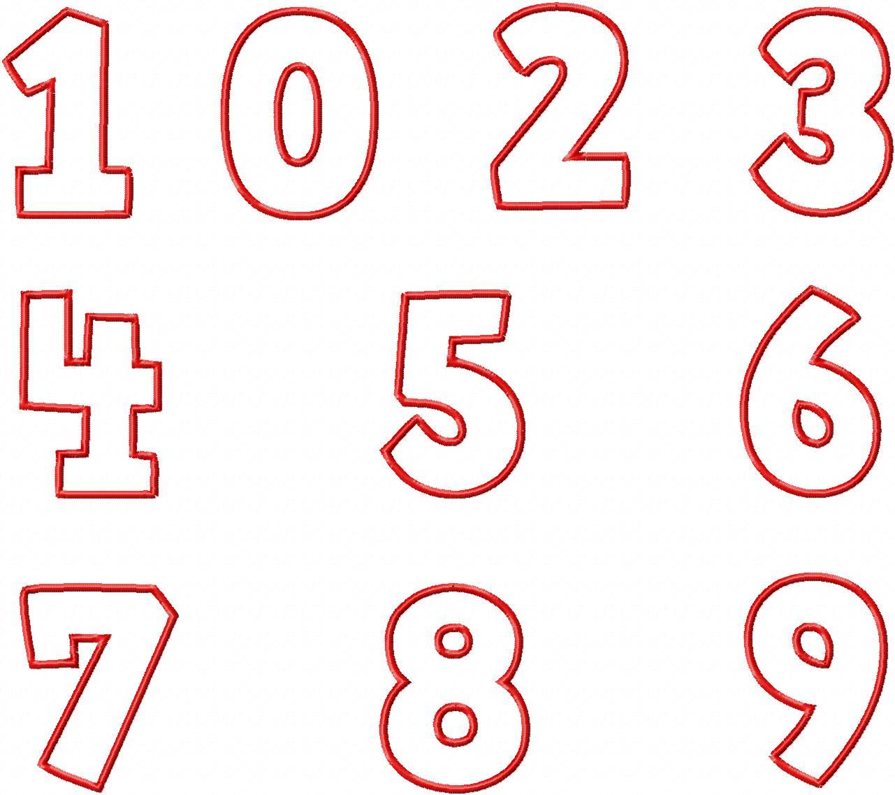 Comic College Applique Machine Font Set in Three Sizes
