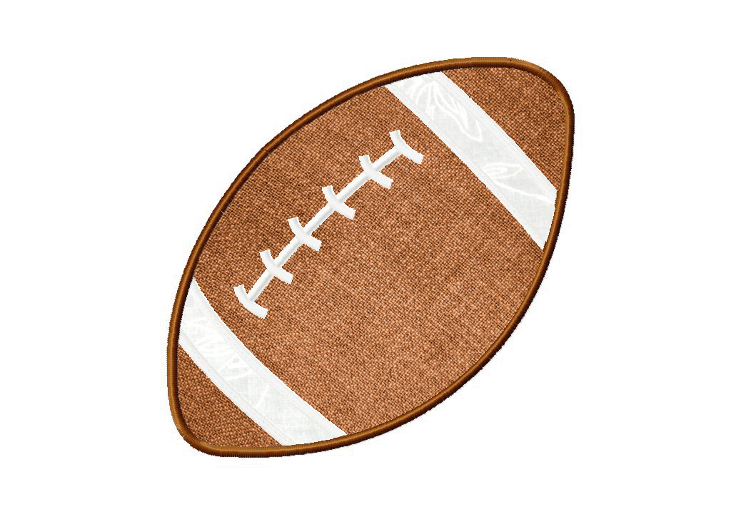 Football Machine Embroidery Design Includes Both Applique And Fill