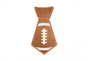 Football Tie Machine Applique