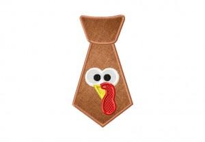 Turkey Tie Embroidery Design