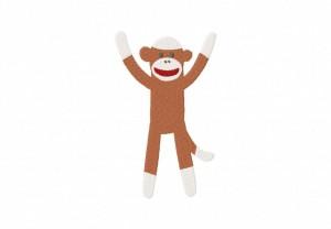 Sock Monkey Boy Stitched 5_5 Inch