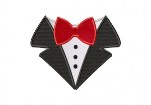 Bow Tie Shirt Applique 6_5 Inch