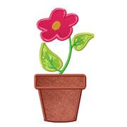 smallflowerpotapplique