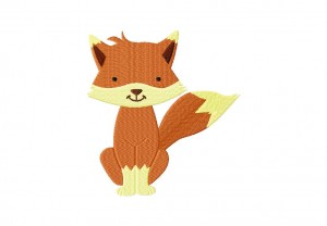 Cartoon Fox Stitched 5_5 Inch