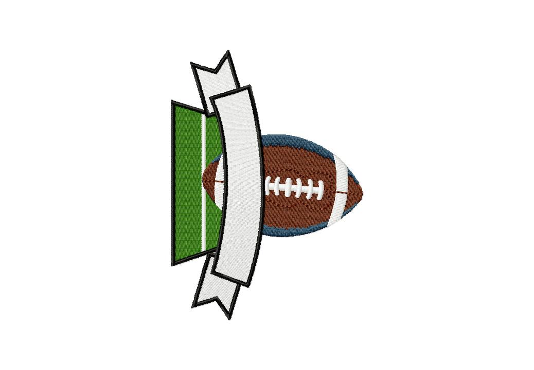 Football Field Banner Machine Embroidery Design Daily Embroidery