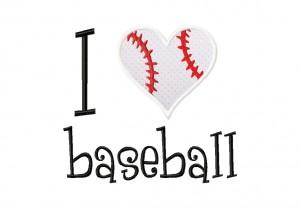 I Heart Baseball 6X10 Hoop