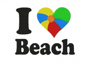 I Heart Beach 6X10 Hoop
