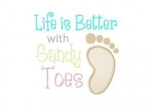 Sandy Toes 6X10 Hoop