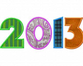 New Year 2013 Machine Applique Design